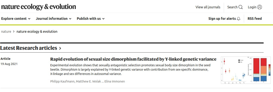 Philipp's Nature Ecology and Evolution paper is published!
